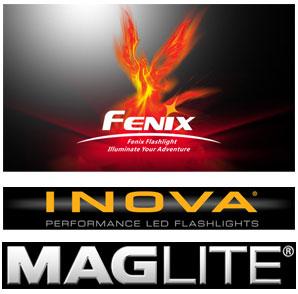 Fenix Logo Inova Logo Maglite Logo